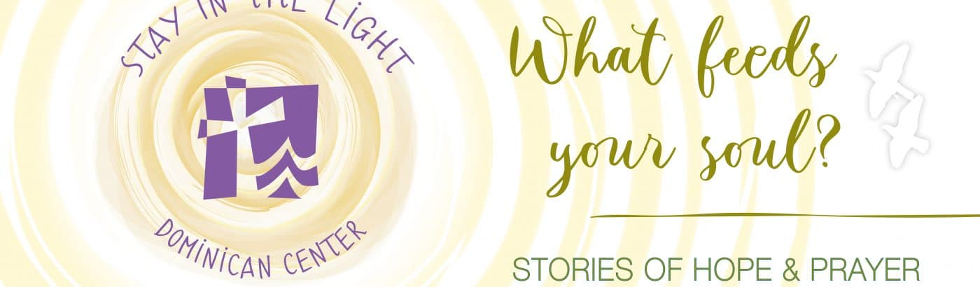 Stay in the Light ~ Stories of Hope and Prayer During a Pandemic | What feeds your soul? | Dominican Center at Marywood, Grand Rapids, MI